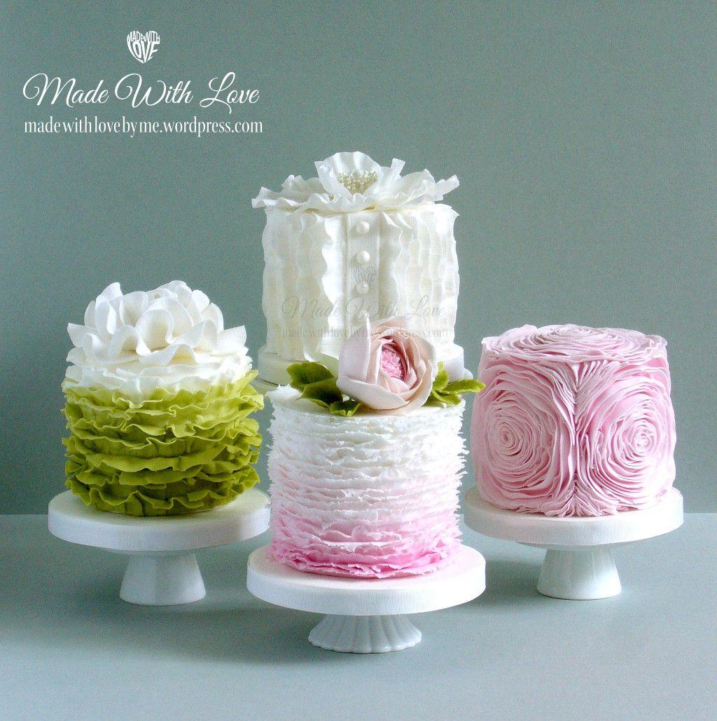 Ruffles Cakes Mini Wedding Cakes Mini Cakes Birthday Ruffle Cake