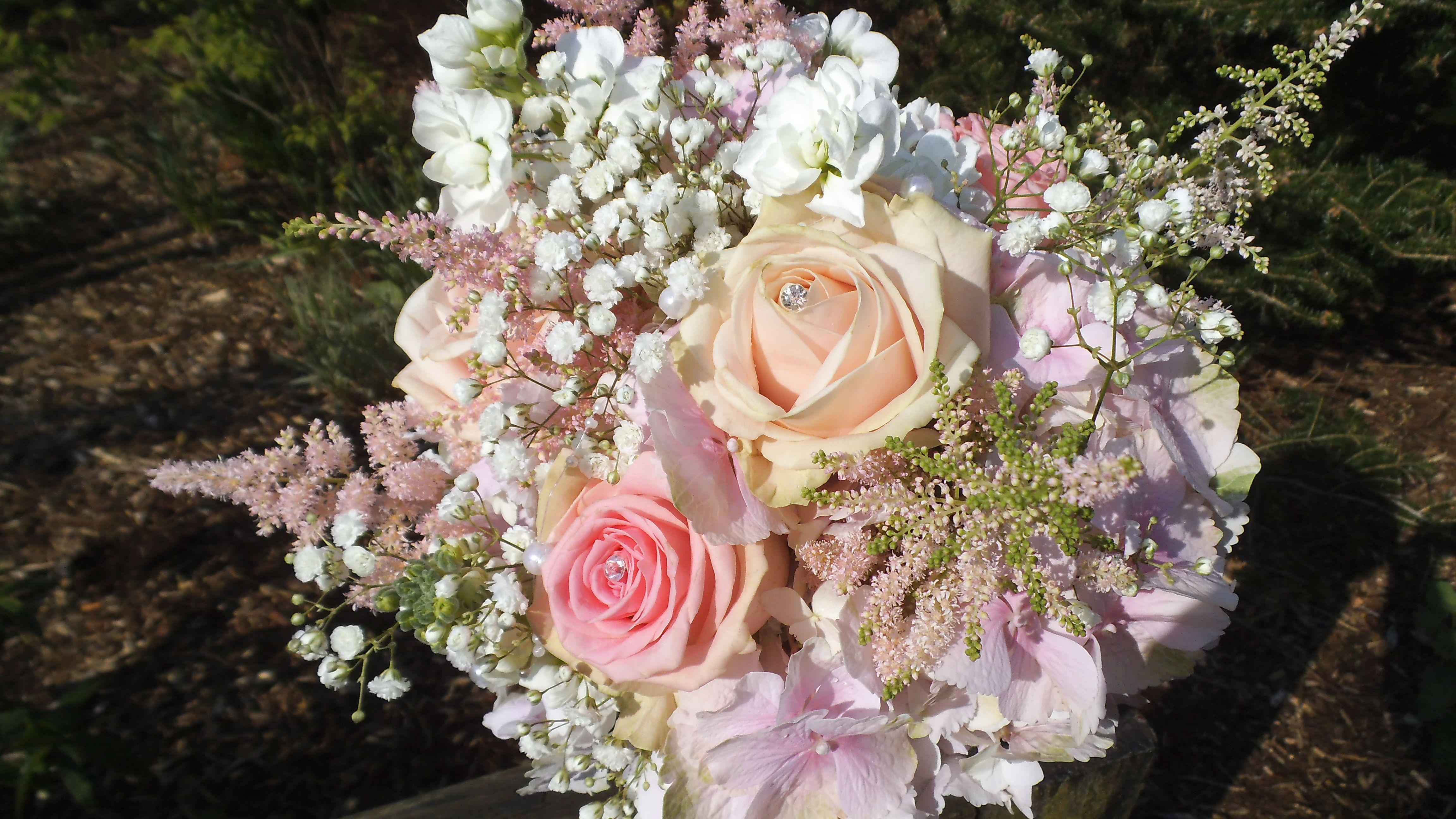roses flowers gypsophila flower - photo #7