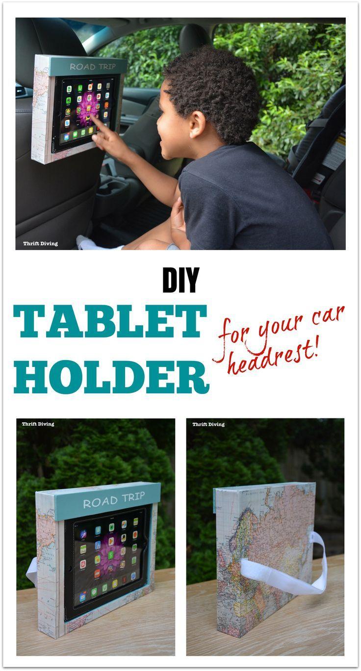 How to Make a DIY Tablet Holder for a Car Headrest   Ipad ...