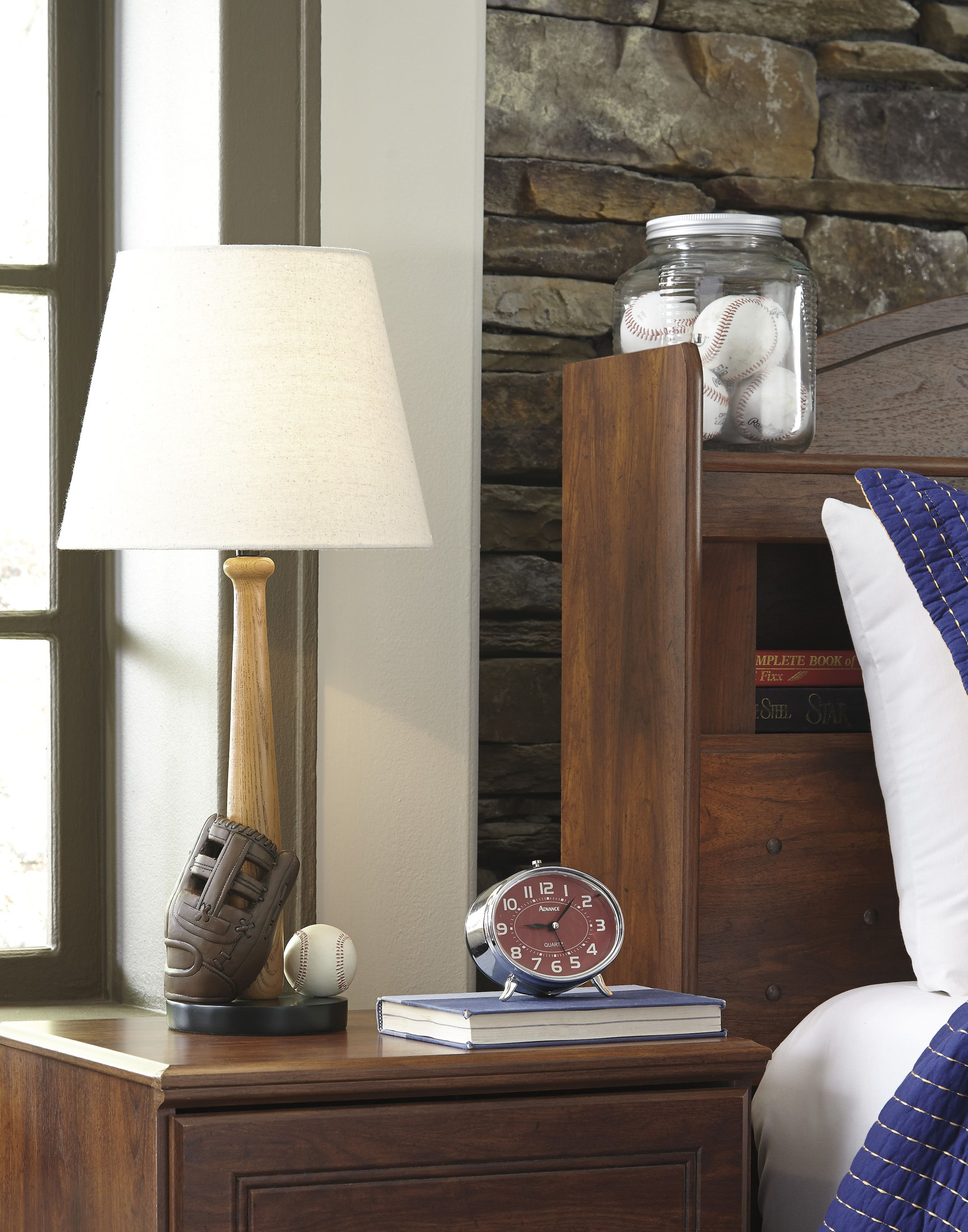 Avidan poly table lamp in brown and cream by ashley at