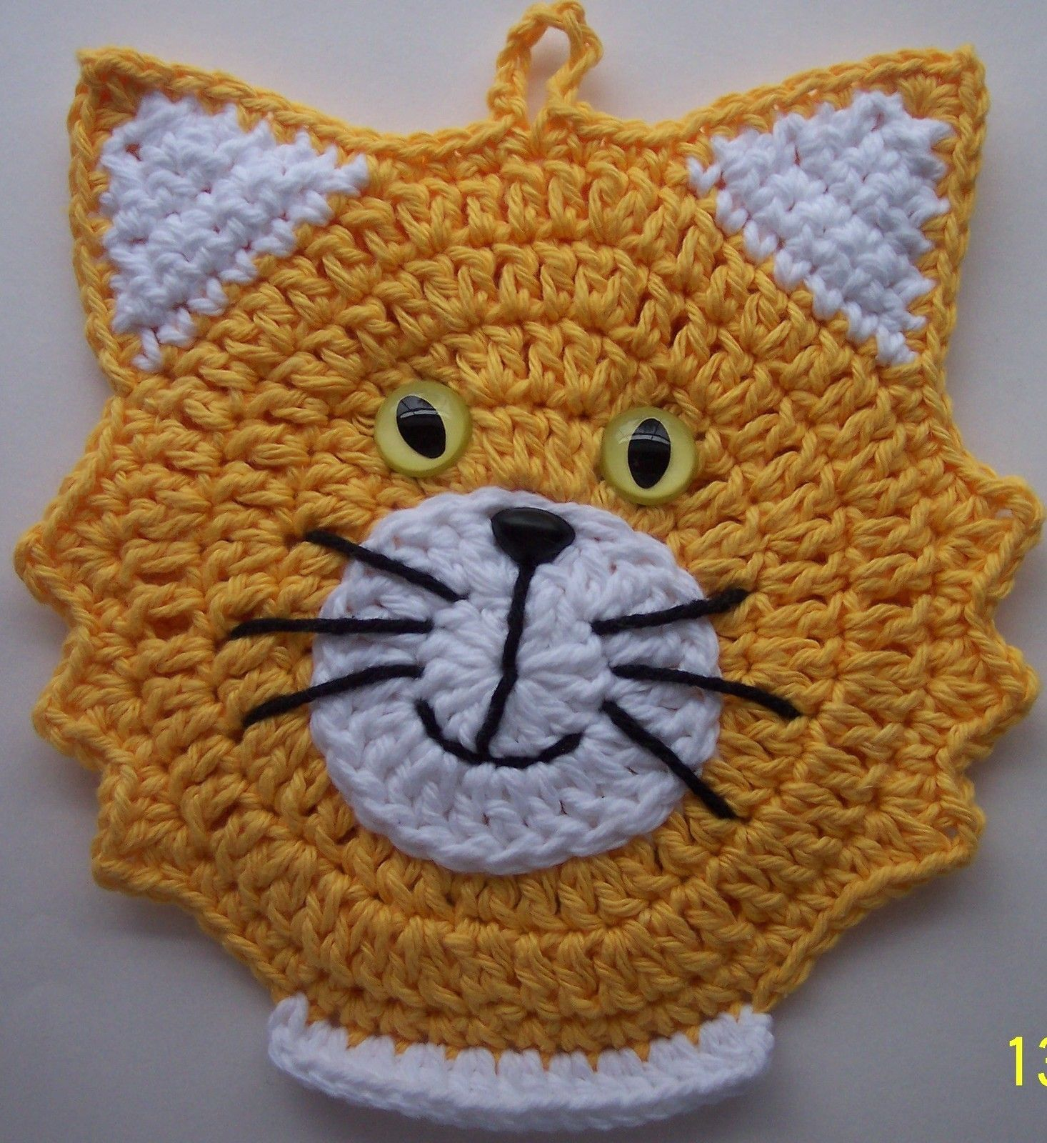 Super cute pot holder | Crochet | Pinterest | Topflappen, Häkeln und ...