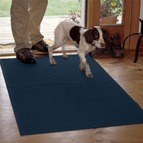 Water Trapper Grid Mats Only 45 5 X 97 Navy By Orvis 199 00 Our Thirsty Polypropylene Mats Are Designed To K Floor Cleaner Area Rug Decor Area Rug Pad