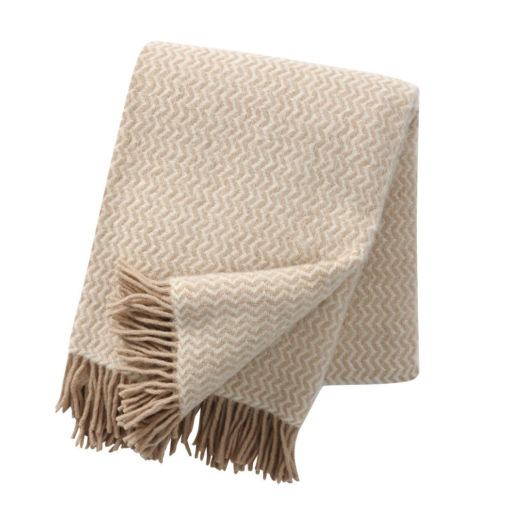 Klippan Decke Wolle 130 200 Beige I 2020
