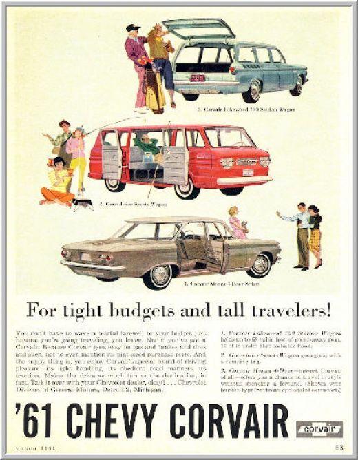 1960 advertisements chevrolet   Corvair Advertisements 1960-69 by Chevrolet for the Aficionado