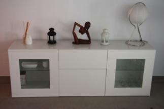 Aparadores De Cocina Ikea | Aparador Con Muebles Besta Ikea Decorar Tu Casa Es Facilisimo
