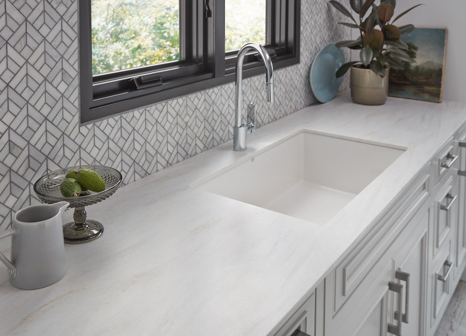 Wilsonart S New Thinscape Collection Is The Next Big Countertop Trend Rue Solid Surface Countertops Kitchen Countertops Kitchen Countertops Laminate