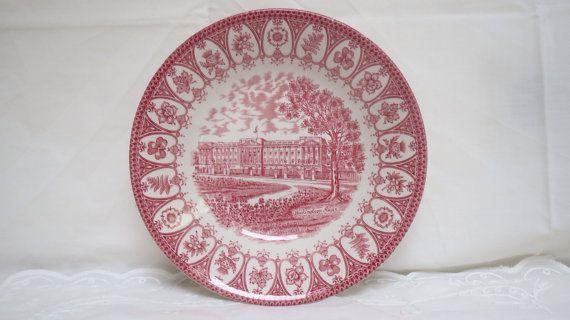 Vintage Staffordshire red ironstone soup plate by karmolijntje