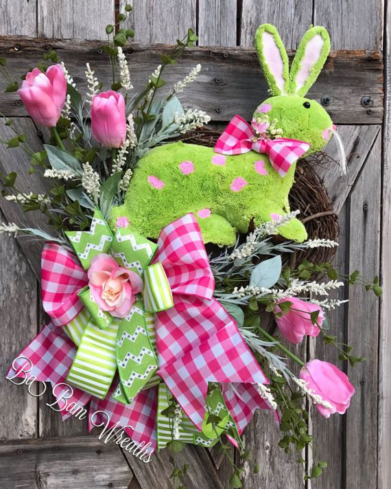 Spring Wreath Easter Wreath Spring Floral Spring by BaBamWreaths