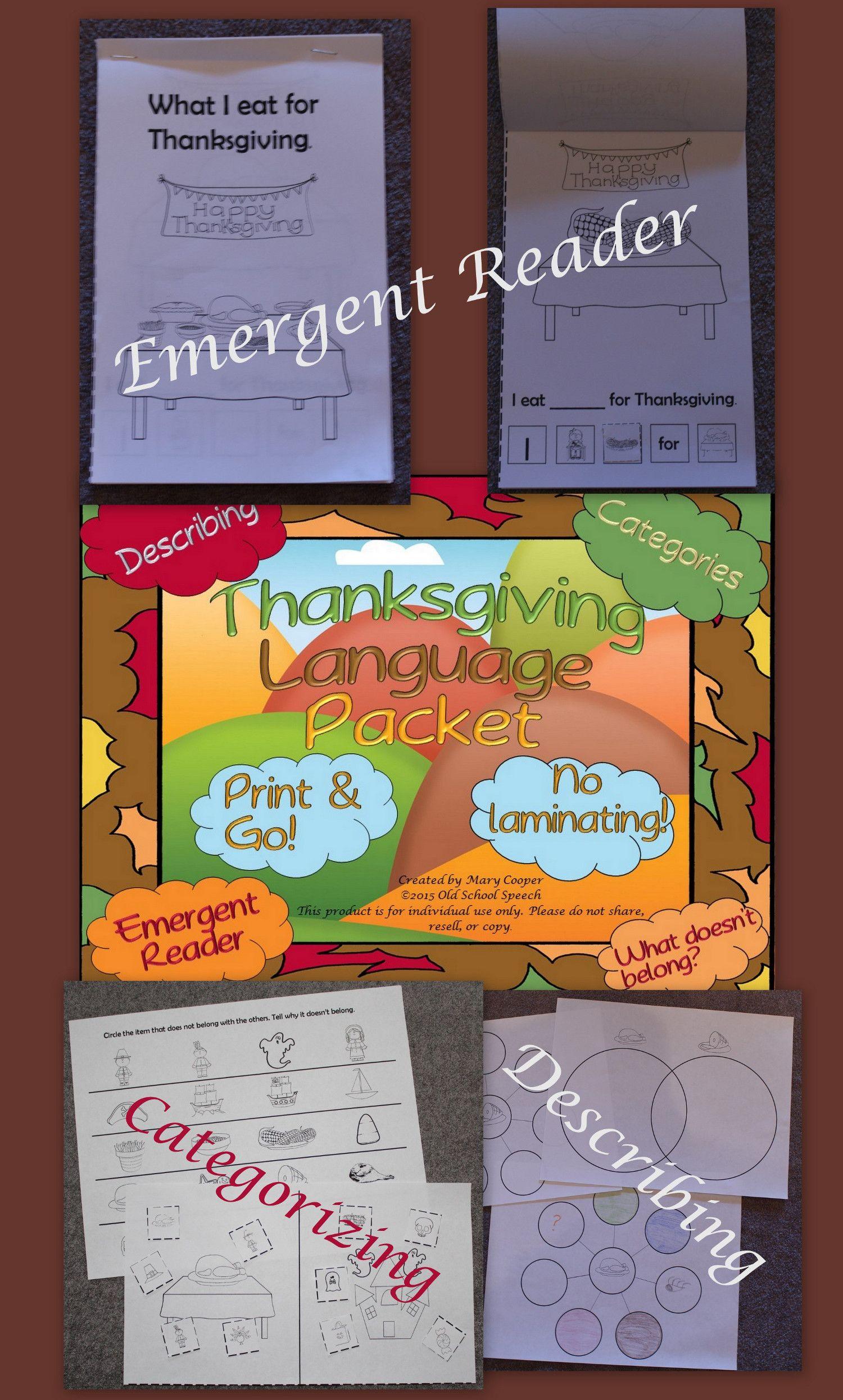 Thanksgiving Language Print Amp Go