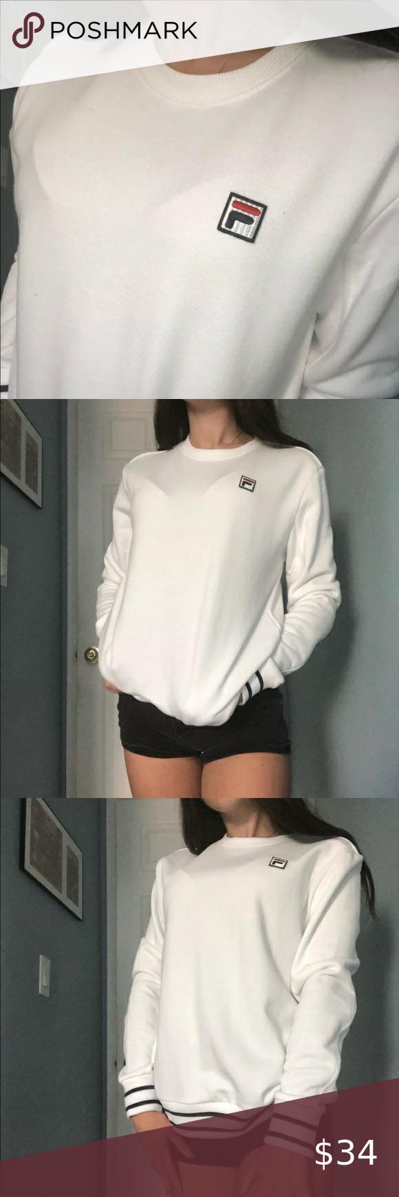 Fila White Crewneck Sweatshirt Size Small Fila White Crewneck Sweatshirt Size Small Brand New With White Crewneck Sweatshirt Crew Neck Sweatshirt Sweatshirts [ 1740 x 580 Pixel ]
