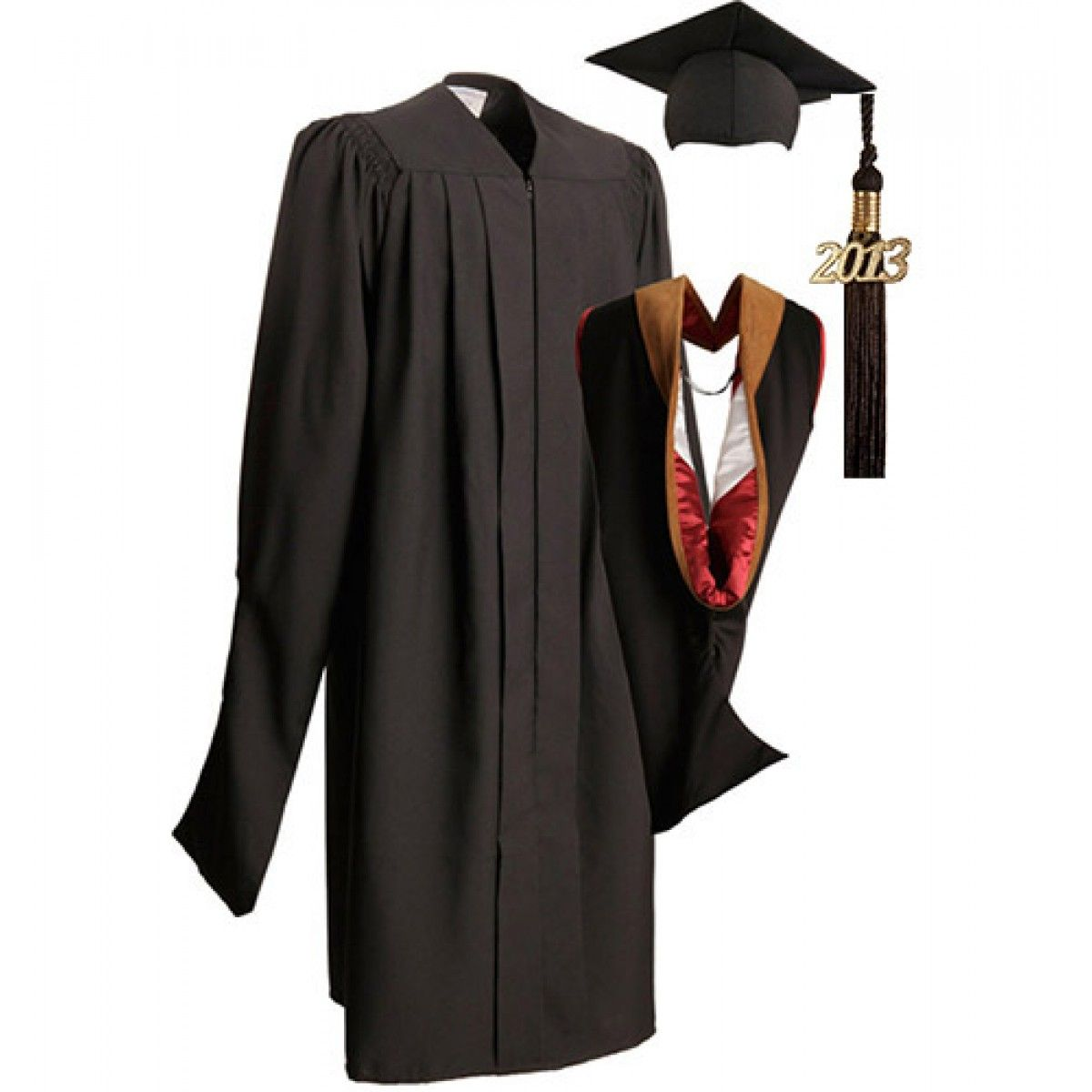 MA Deluxe Cap Gown Tassel & Hood | GraduationSource Products ...