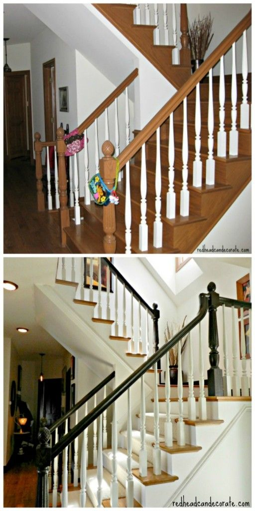 Staircase Makeover Redhead Can Decorate Staircase Makeover Painted Staircases Home