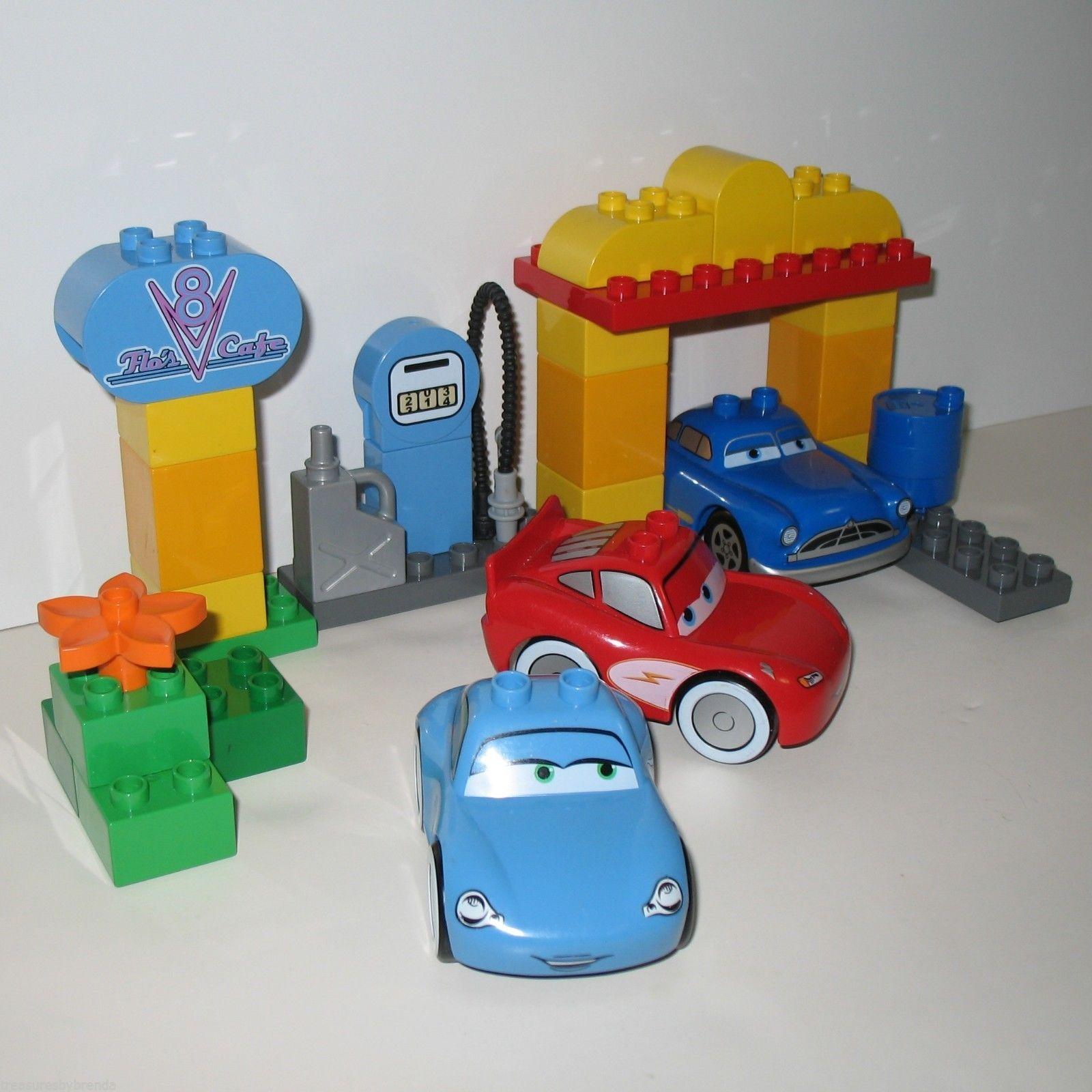 Rare Lego Duplo Set Flos V 8 Cafe Has Three Cars From Disneys