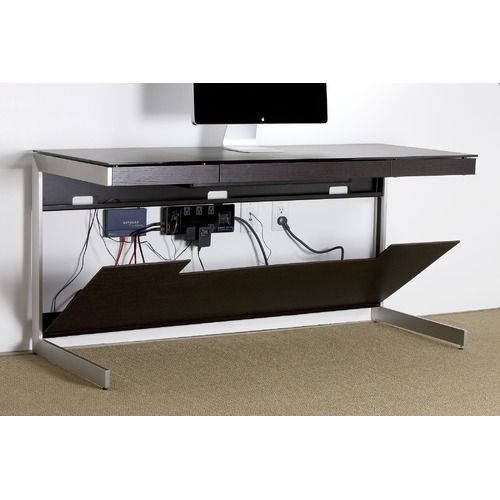 Sequel Glass Writing Desk Front Office Furniture Home Office