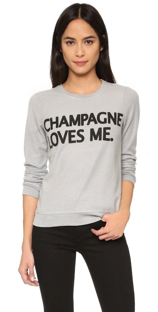 Chaser Champagne Loves Me Sweatshirt | SHOPBOP