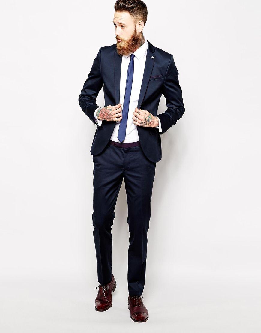 Traje slim fit   Look para una entrevista de trabajo en la u   Pinterest
