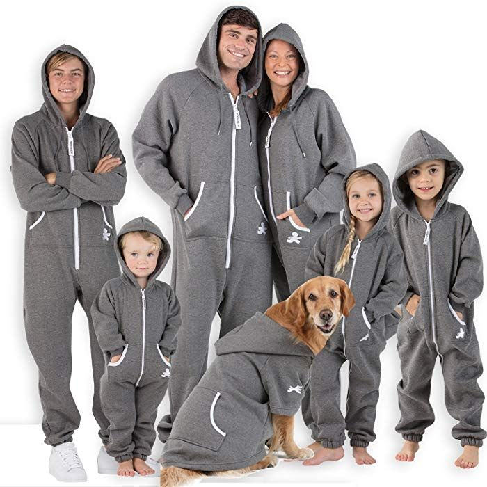 2dee301d5 Amazon.com  Footed Pajamas Family Matching Charcoal Gray Adult ...
