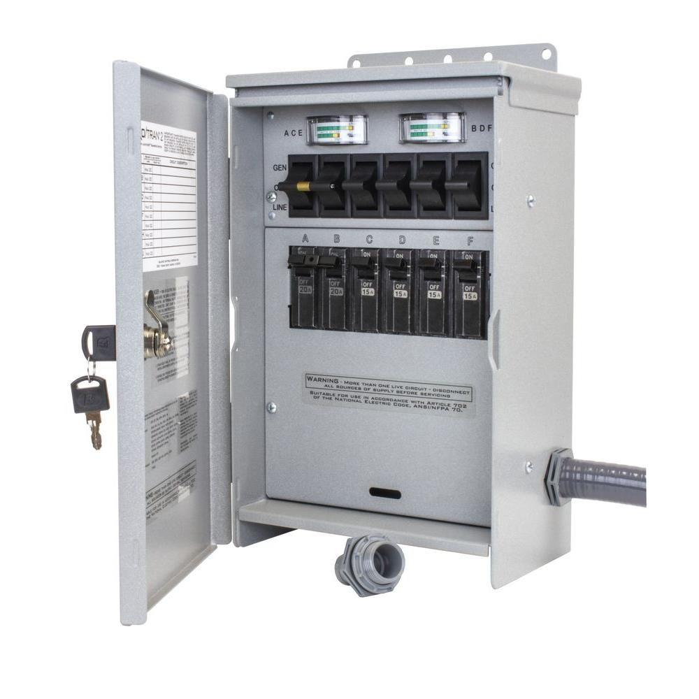 Reliance Controls 7,500Watt 30 Amp 6Circuit Outdoor