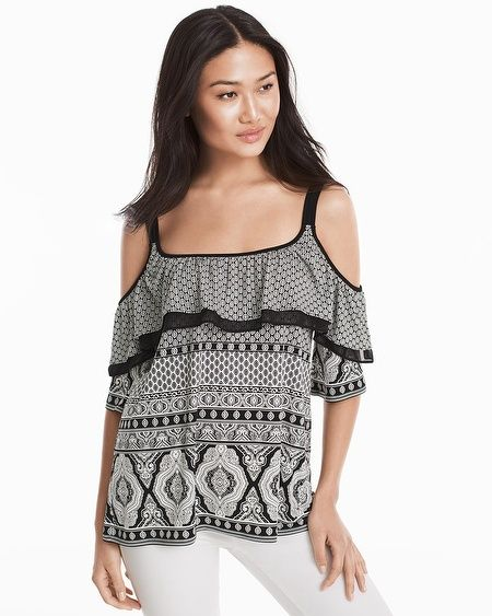 78b8bd9e9ec33 The perfect going-out top—thanks to the black-and-white mosaic ...