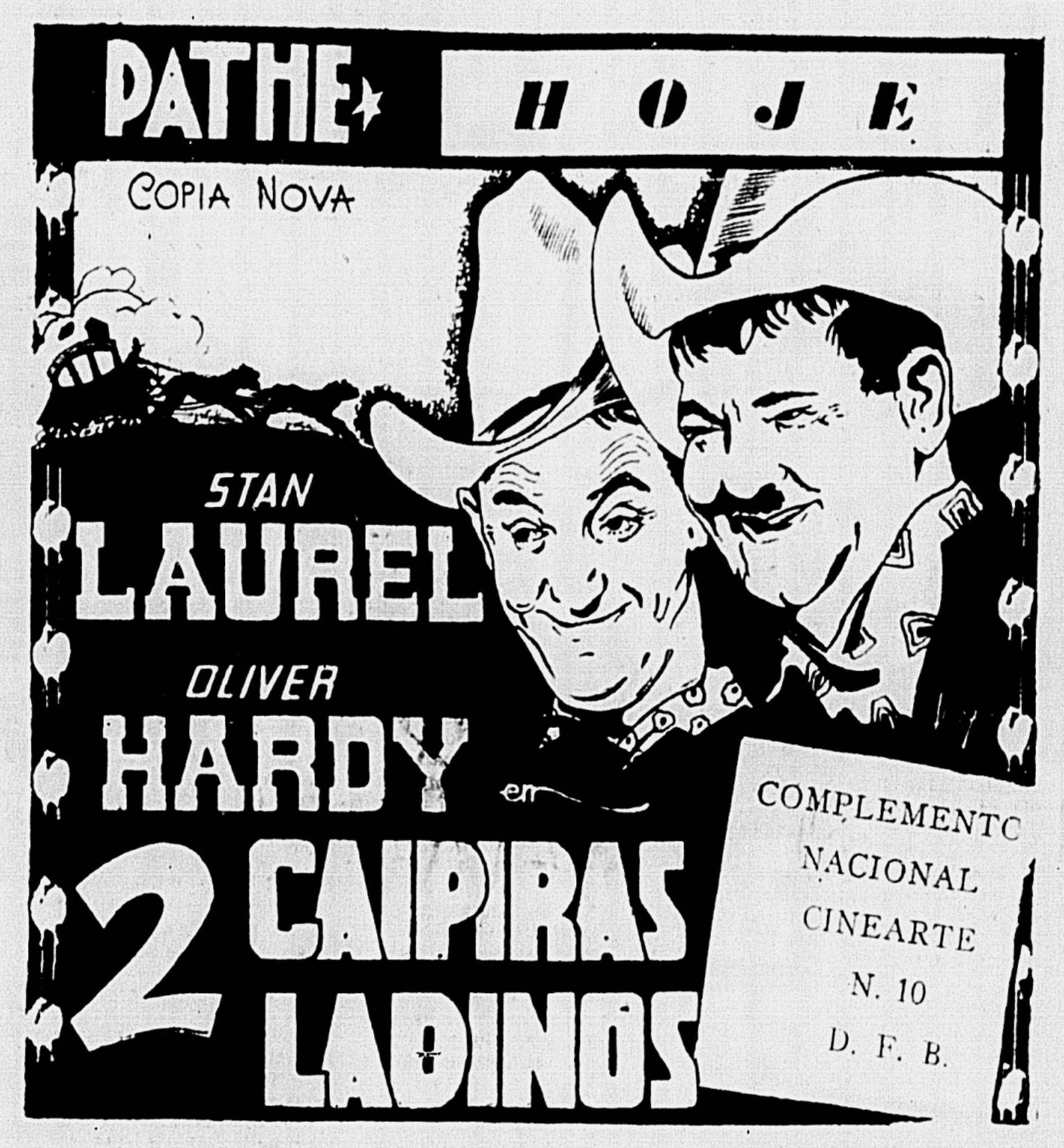 1937 - WAY OUT WEST - James W. Horne - 1942 reissue - (CORREIO DA MANHA, Thursday, June 18, 1942, Rio de Janeiro, Brazil)
