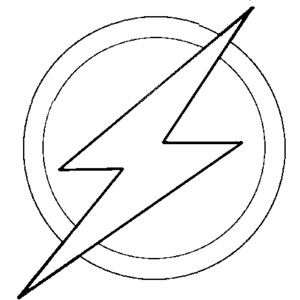 Coloring The Flash Logo Of Barry Allen Picture Superhero Coloring Superhero Coloring Pages Superhero Logo Templates