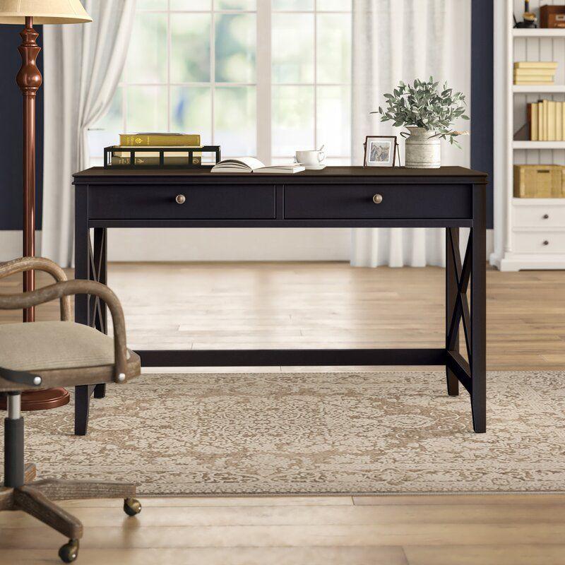 Mackey Wood Desk In 2020 Wood Desk Wooden Writing Desk Wood
