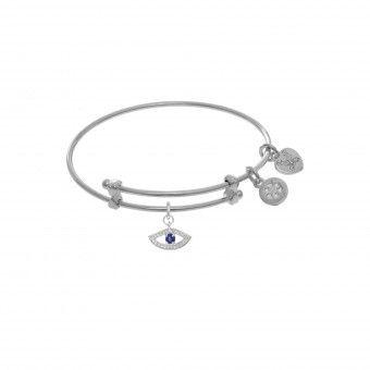 Evil Eye Tween Charm Bracelet | Silver Tone | #WTGEL9124 | Retail Price: $29