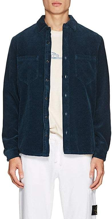 047877158 Barneys New York Stone Island XO Men's Cotton Corduroy Shirt Jacket ...