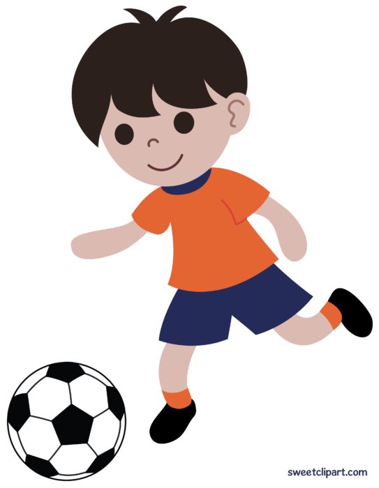 Boy Playing Soccer Futbol Clipart Soccer Drawing Boys Playing Football Drawing