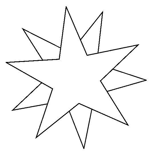 kleurplaat sterren zon maan 1