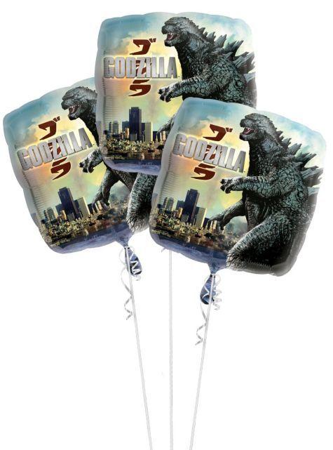 Godzilla Christmas Ornament 2019 Foil Godzilla Balloons 17in 3ct   Party City | birthday party
