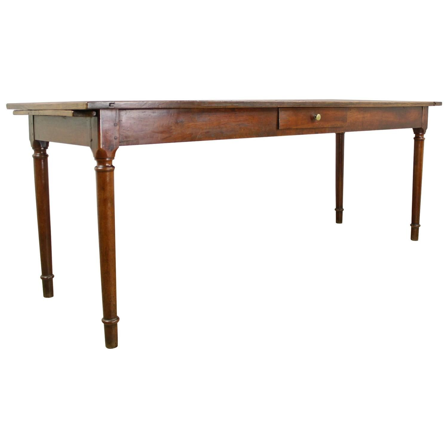 Antique One Drawer Light Cherry Server Narrow Dining Table Bread