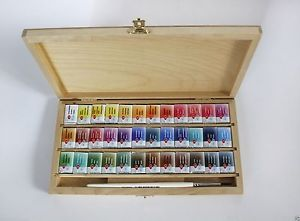 Watercolor Paint 36 Set St Petersburg White Nights Wooden Box