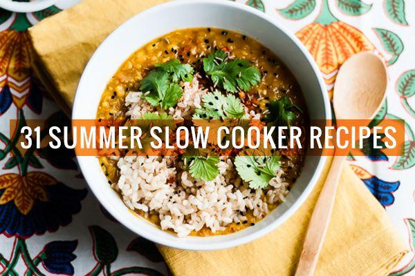 31 Vegetarian Slow Cooker Recipes For Summer Vegetarian Slow Cooker Recipes Slow Cooker Vegetarian Slow Cooker Soup
