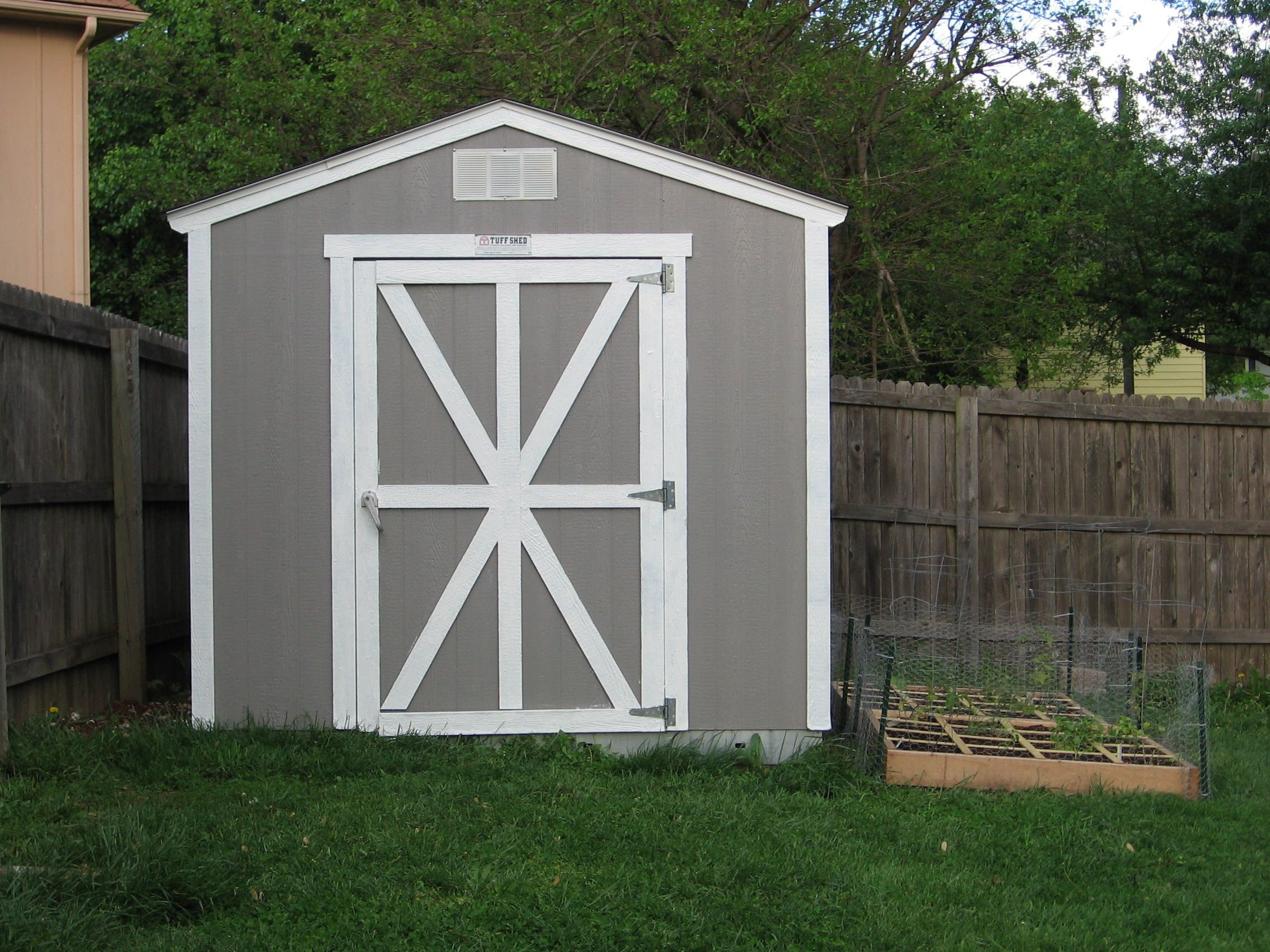 Barn shed door panel ideas nice gray wooden small shed ideas with single large door with - Plans for garden sheds decor ...