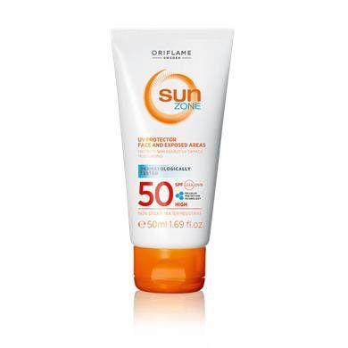 Protector Solar Facial Fps 50 Sun Zone Con Imagenes Locion Facial Piel Lociones