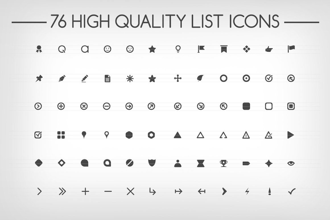 Bullet Points by Web Incredible on creativemarket