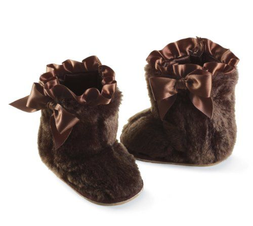 Mud Pie Baby-girls Infant Fur Boot, Brown, 12-18 « Shoe Adds for your Closet