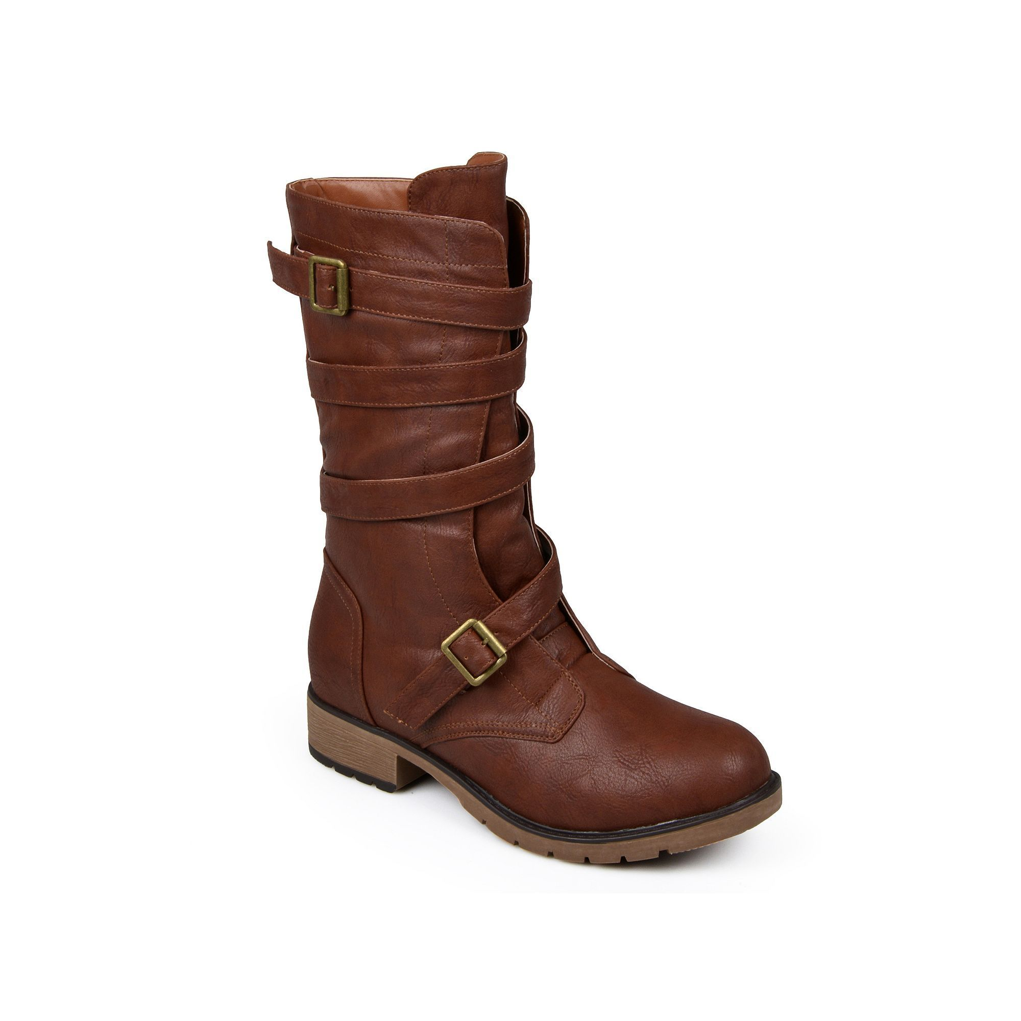 Top Fashion Journee Collection Jennica Women's Midcalf Boots  Brown