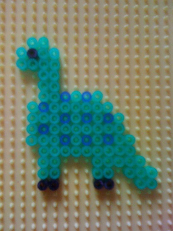 Hama Bead Dinosaur Perler Beads Beads And Hama Beads