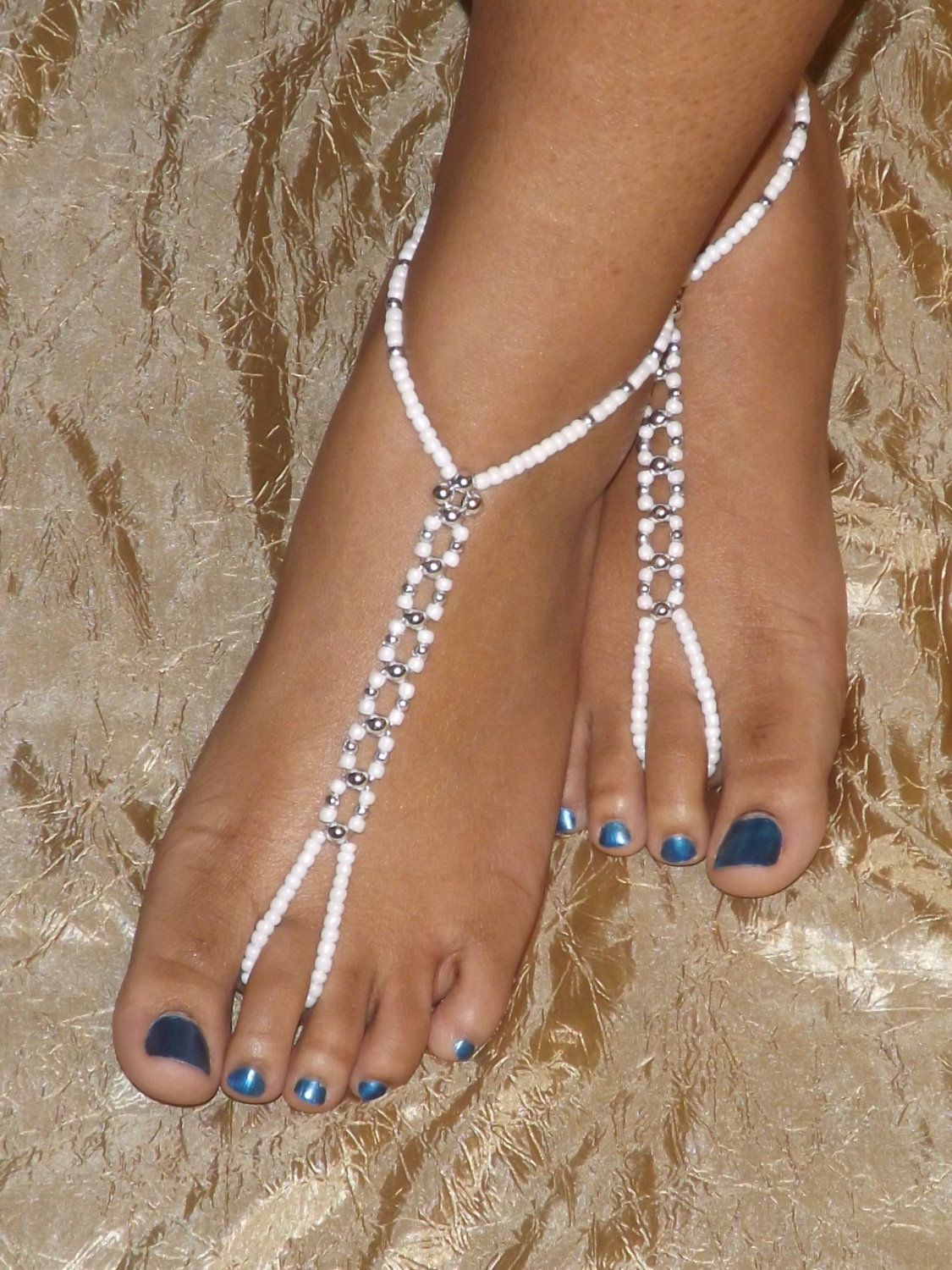 cecc549de4b3 This pair of Barefoot sandals was made with stretch magic cord ...