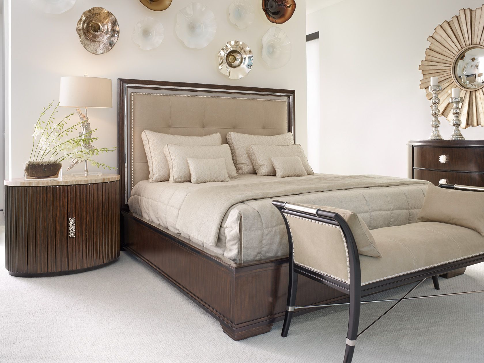 The Malibu Collection Sleigh Bed By Marge Carson The Malibu Collection A Perfect Blend Of