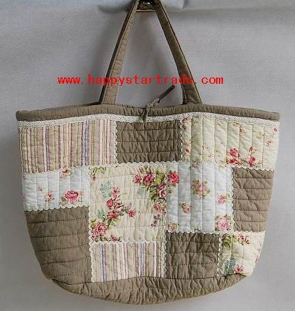 Free Tote Bag Patterns   Pattern Bag Quilted Tote Bags (HP12005) - China Cotton Pattern Bag ...