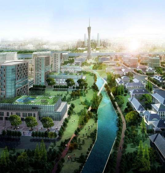 Solarpunk Future City Urban Agriculture City