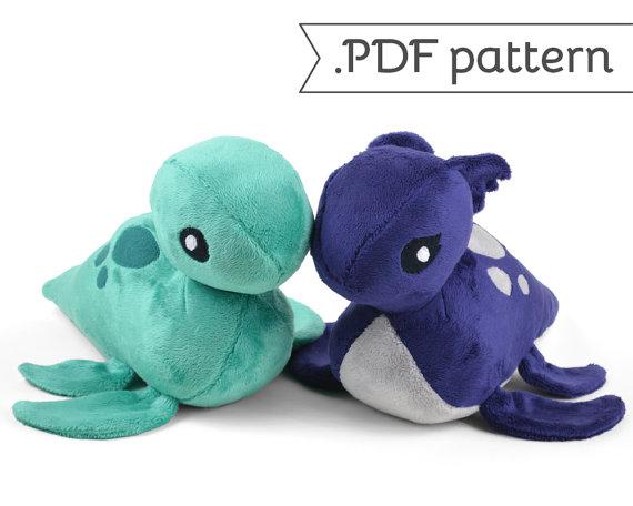 Loch Ness Monster Plush Nessie .pdf Sewing Pattern | Kuscheltiere ...