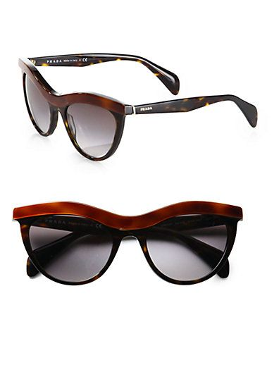 86d67f99ba Prada - Cat s-Eye Acetate Sunglasses - Saks.com