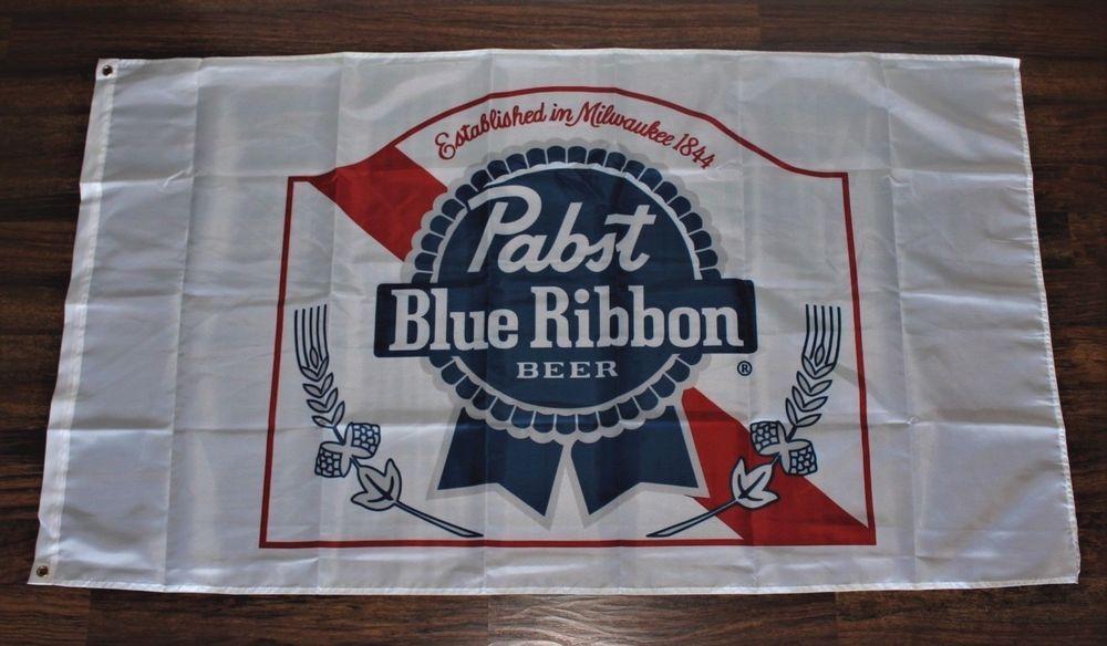 Pabst Blue Ribbon Beer Flag Banner Pbr Liquor Alcohol 3 X 5 Usa Shipper New Pabst Blue Ribbon Beer Pabst Blue Ribbon Blue Ribbon