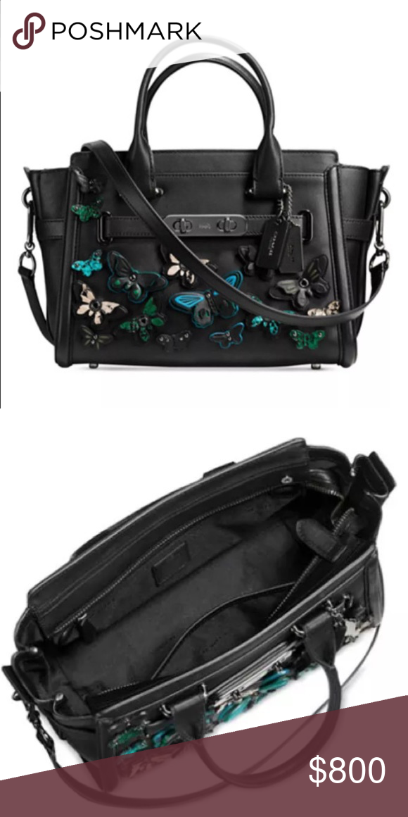 Purses · Leather · COACH BUTTERFLY APPLIQUÉ SWAGGER 27 Brand new with tags,  size 27, cross body strap ed5f6a7249