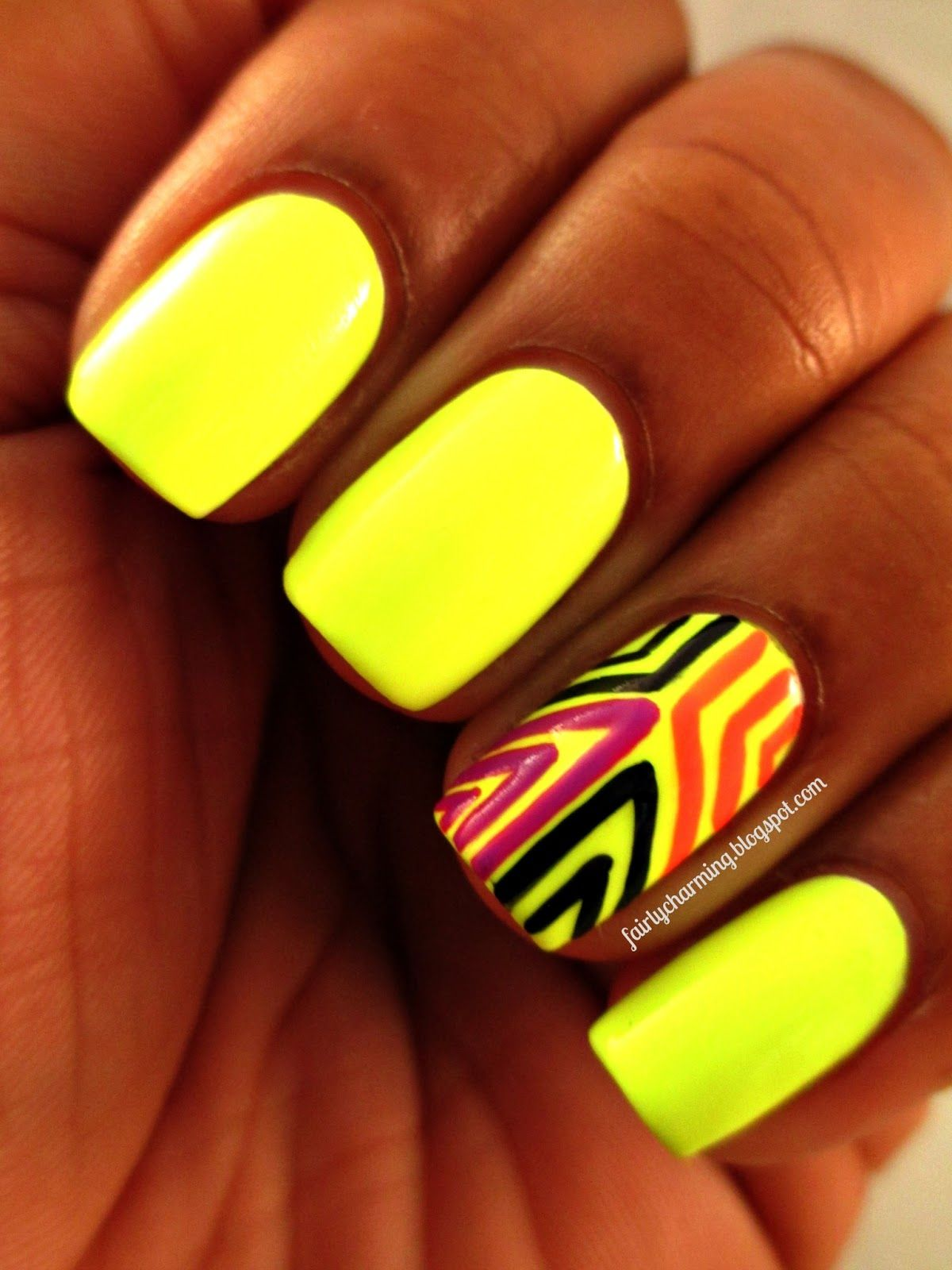 Neon Nail Art Designs | 50+ Beautiful Bright and Neon Nails Designs |  makeup ideas | Pinterest | Neon yellow nails, Yellow nails and Nail color  designs - Neon Nail Art Designs 50+ Beautiful Bright And Neon Nails Designs