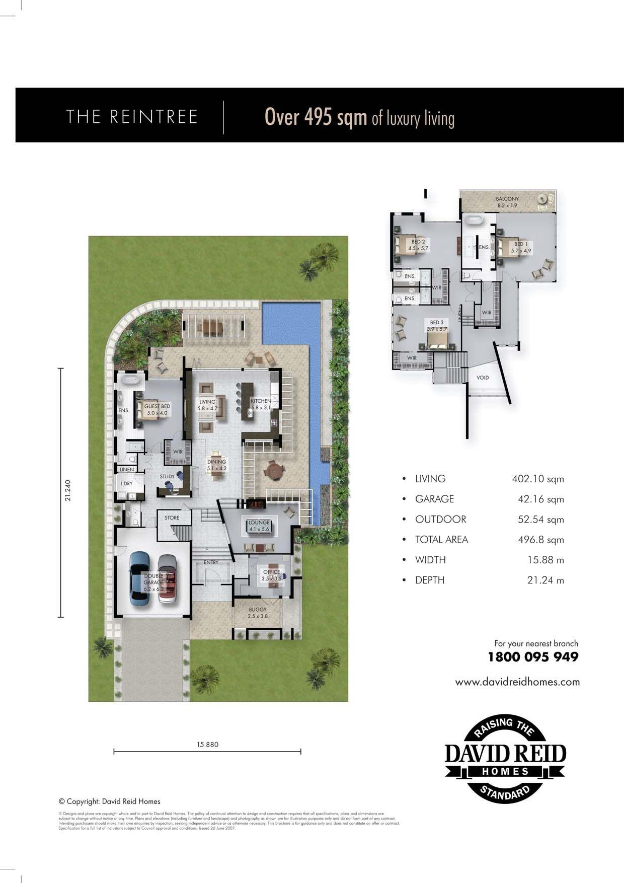 The Reintree Floor Plan Concept Range David Reid Homes